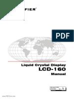 Notifier LCD 160 Liquid Crystal Display