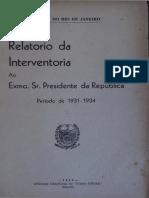 1931-1934 - Relatório Ary Parreiras - APERJ