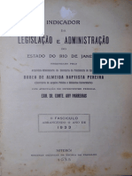 1933 - Indicador Da Legislação e Administração RJ