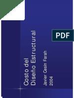 Costo Del Diseño Estructural JC Farah 2004