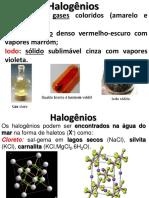 9- Propriedades Gerais Dos HALOGÊNIOS
