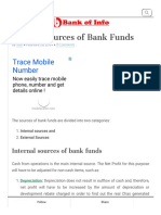 Various Sources of Bank Funds