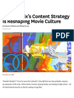 How Netflix's Content Strategy is Reshaping Movie Culture