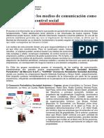 El Monopolio de Los Medios de Comunicación Como Herramienta de Control Social Guía
