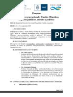 Congreso Justicia Intergeneracional y Cambio Climatico Septiembre 2017
