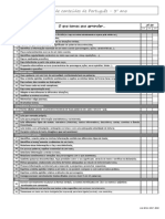 Lista de Conteudos Portugues 3º Ano 2017 2018