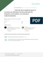 (2016) Castro-Garrido - Aplicación Del Método de La Madurez Para La Estimación Del Plazo de Descimbrado de Forjados Construidos Co