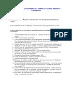 Documentos Necessários Para Homologação de Rescisão Contratual