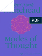 Alfred North Whitehead Modes of Thought 2