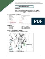 """Mejoramiento de La Losa Deportiva Multifuncional Callampata, Barrio Alto Chanchamayo, Distrito de La Oroya, Provincia de Yauli - Junin"""""""