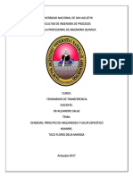 Informe Densidad , Calor Especifico