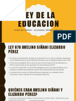 Ley de La Educacion