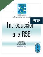 Intro a RSE Luis Ulla IARSE - Septiembre 2008 Córdoba