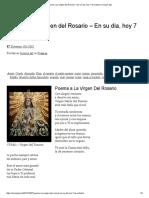 Poema a La Virgen Del Rosario – en Su Día, Hoy 7 de Octubre _ Iconos J&J