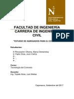 estudio de agregados para el concreto