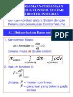Persamaan dasar Dalam Integral