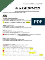 Calendario de LVE 2017-2021