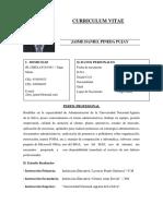 Curriculum Jaime Pineda Pujay Actual Agosto 2017