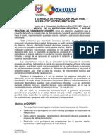 1. Sinoptico (Semipresencial) Diplomado en Gerencia de La Producción Industrial y Buenas Practicas de Fabricación