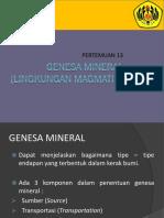 1g - Genesa Mineral (Magmatik)