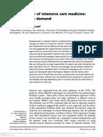 Epidemiology of Intensive Care Medicine - Supply Versus Demand