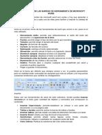 Las Funciones de Las Barras de Herramienta de Microsoft Word