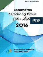 Kecamatan Semarang Timur Dalam Angka 2016