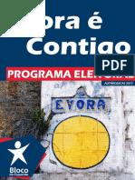 Programa Eleitoral de Bloco de Esquerda - Concelho de Évora