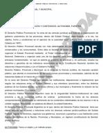 Resumen Derecho Público Provincial y Municipal