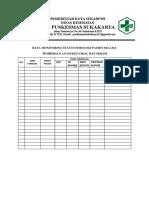 7.7.1.4 Bukti Pelaksanaan Monitoring Status Fisiologi