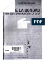 Sobre La Bondad - Breve Introducción a La Ética, Blackburn