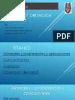 PROCESO de Obtencíon Del Titanio