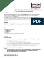 London Cancer Methylene Blue Guideline v1