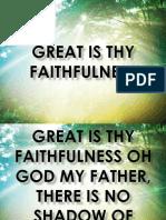 Great is Thy Faithful Ns