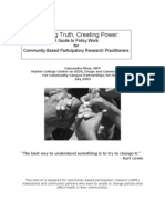 Guide to Policy Work for Community-Based Participatory Research Practitioners