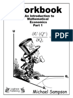 Workbook for Introduction to Mathematical Economics Part 1