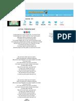 Letra de Evidencias de Armonía 10 - MUSICA