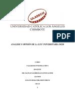 la Ley Universitaria 30220