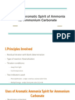 Assay of Aromatic Spirit of Ammonia for Ammonium Carbonate (1)