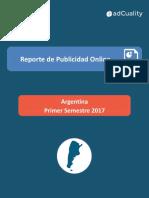 Informe sobre publicidad online en Argentina durante el primer semestre de 2017