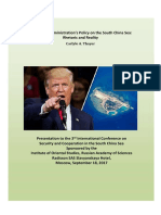 Thayer, The Trump Administration's Policy on the South China Sea