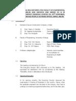 Briefs on Meeting Held Between the Faculty of Engineering