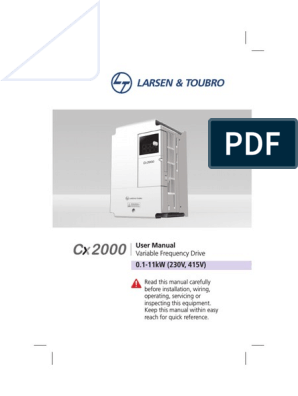 Vfd Cx2000 Manual Power Inverter Electrical Wiring