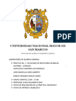 Informe Nro7 Quimica general San Marcos