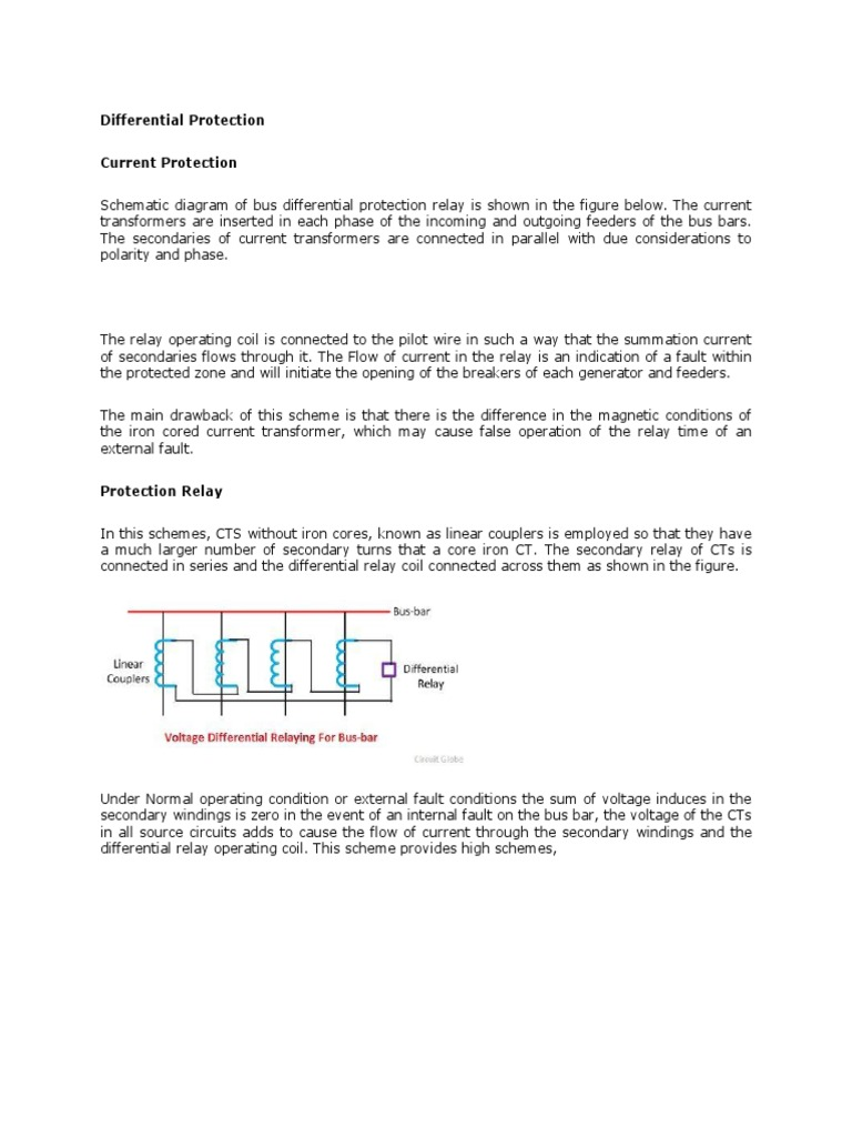 Busbar Differential Concept