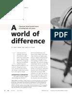 A World of Difference in Teaching Math Hiebert 2004