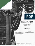 Luisa Fernanda - Partitura Voz y Piano