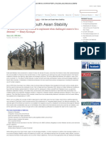 Cold Start and South Asian Stability