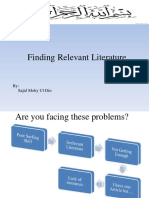 Finding Relevant Literature/ Google Scholar tips