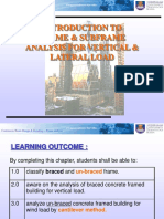 Frame & Subframe Analysis for Vertical and Lateral Load